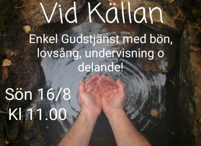 """""""Bli kvar i min kärlek"""" Sön 16/8 kl 11"""
